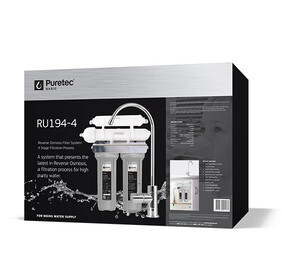 Puretec RU194-4 Reverse Osmosis Undersink Water Filter System with faucet