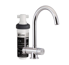 Puretec Z1-T4 Quick Twist Undersink Water Filter System with Tripla T4 LED mixer tap