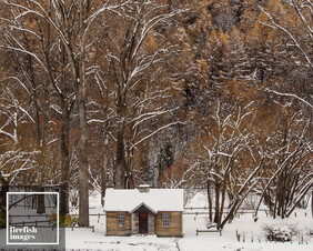 """Arrowtown Old Gold Store Winter - 16"""" x 20"""""""