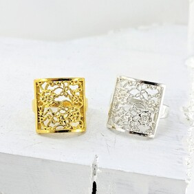 Lace Square Ring
