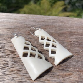 Antler Square Cut out Earrings