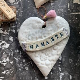 Handmade Pottery Hearts