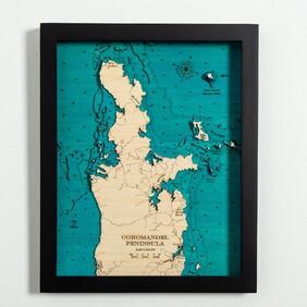 Map of Coromandel Peninsula Medium