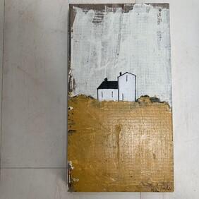 Tiny House - Acrylic on Wood