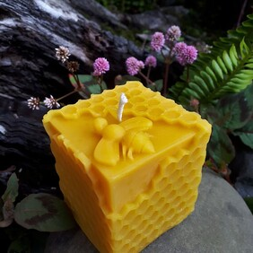 Beeswax Candles - Cube