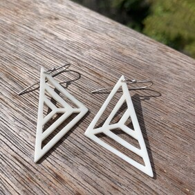 Antler Triangle Earrings