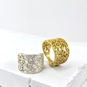 Lace Detail Ring (Large)