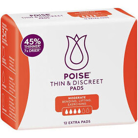 Poise Thin & Discreet Extra Pads