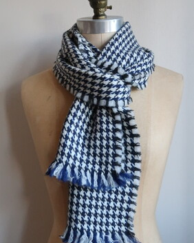 NITH - navy and grey houndstooth
