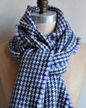 NITH - Navy and purple houndstooth