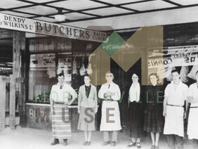 Photo - Dendy and Wilkins Butcher' s Shop with Thomas and Irene Brodie as owners