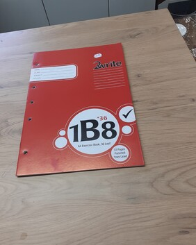 2 Write 1B8 Exercise Book 7 mm Punched Ruled A4 36 Leaf