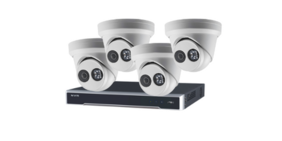 Hik Vision 4x 4MP ColorVu + Acusense Fixed Turret 2.8mm IP Camera (Installation included)