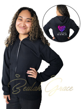 For the Love of Dance Zipped Hoodie