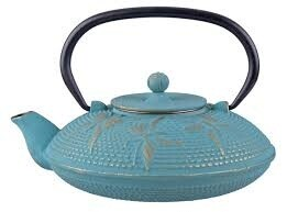 Cast Iron Teapot 800ml Butterfly Turquoise/Gold