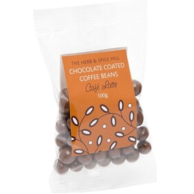 Cafe Latte Chocolate Coffee Beans 100g