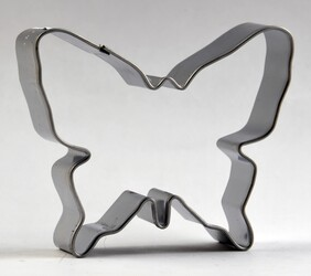 Cookie Cutter Butterfly Silver 7cm