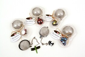 Mesh Teaball Infuser with Decoration