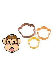 Cookie Cutter Coloured Monkey Set of 3