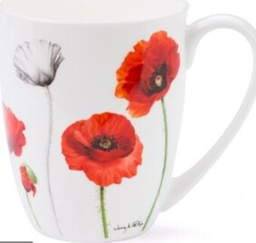 Red Poppies Coupe Mug