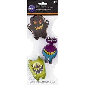 3pc Monster Cookie Cutter