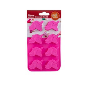 Set of 2 Silicone Unicorn Chocolate Moulds 8cup
