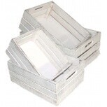 Gift Box White Wash Crate MED
